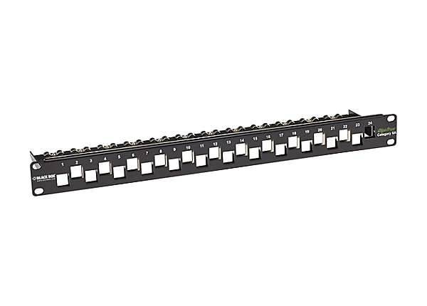 Black Box GigaTrue CAT6A Staggered Blank Patch Panel - patch panel - 1U - 1