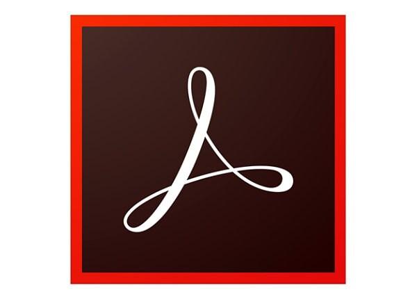 Adobe Acrobat Standard DC - Enterprise Licensing Subscription New (monthly)