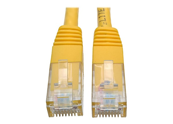 Tripp Lite 3ft Cat6 Gigabit Molded Patch Cable RJ45 M/M 550MHz 24AWG Yellow