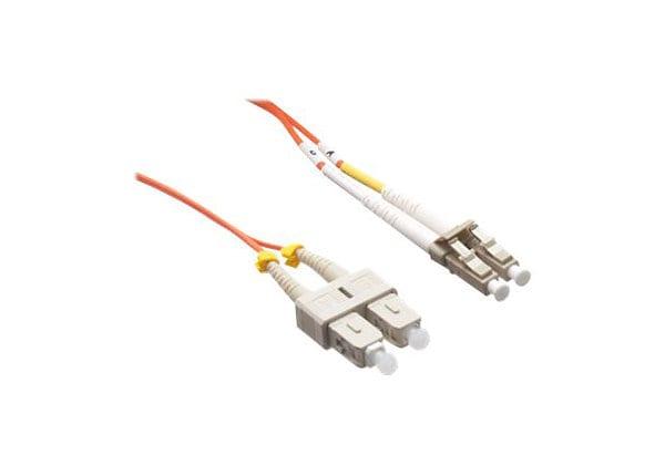 Axiom LC-SC Multimode Duplex OM2 50/125 Fiber Optic Cable - 4m - Orange - n