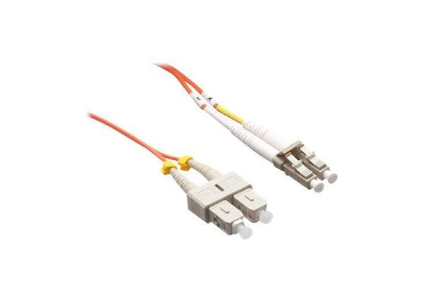 Axiom LC-SC Multimode Duplex OM2 50/125 Fiber Optic Cable - 70m - Orange -