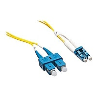 Axiom LC-SC Singlemode Duplex OS2 9/125 Fiber Optic Cable - 40m - Yellow -