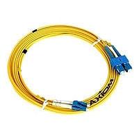 Axiom LC-ST Singlemode Duplex OS2 9/125 Fiber Optic Cable - 2m - Yellow - n