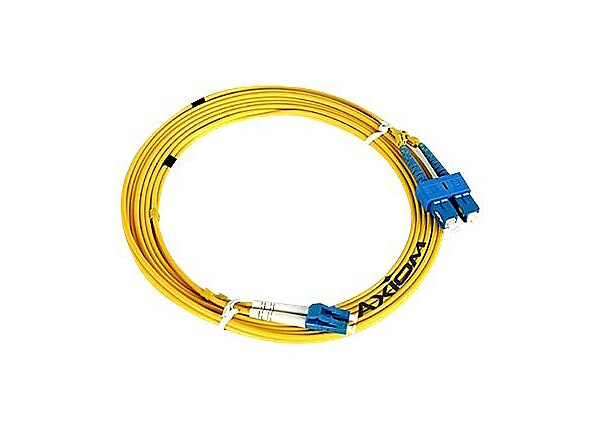 Axiom LC-ST Singlemode Duplex OS2 9/125 Fiber Optic Cable - 3m - Yellow - n