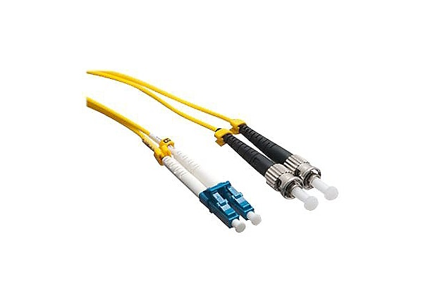 Axiom LC-ST Singlemode Duplex OS2 9/125 Fiber Optic Cable - 40m - Yellow -