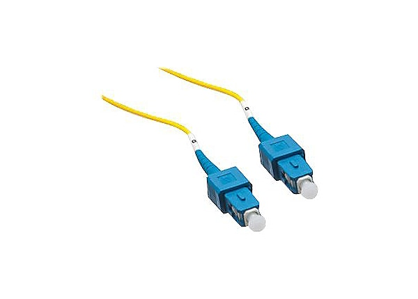 Axiom SC-SC Singlemode Simplex OS2 9/125 Fiber Optic Cable - 20m - Yellow -