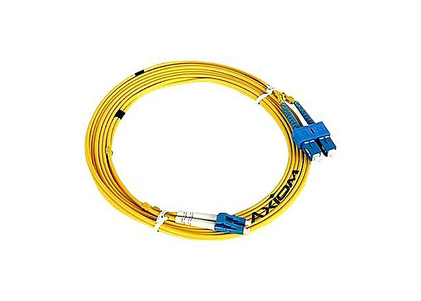 Axiom ST-ST Singlemode Duplex OS2 9/125 Fiber Optic Cable - 1m - Yellow - n