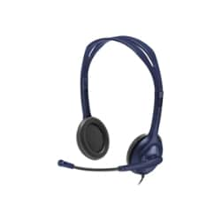 Logitech - headset - wired 3.5mm - midnight blue - 5 pack
