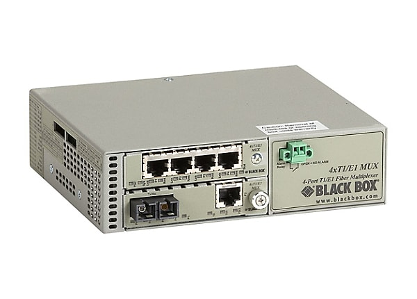 Black Box T1/E1 to Fiber Mux with LAN Connector - multiplexor