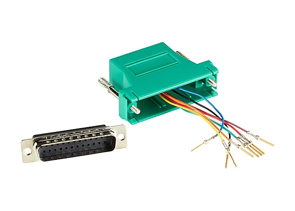 Black Box Colored Modular Adapter serial RS-232 cable - green