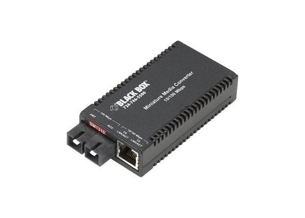 Black Box Miniature Media Converter - fiber media converter - 10Mb LAN, 100