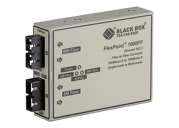 Black Box FlexPoint - media converter - GigE - TAA Compliant