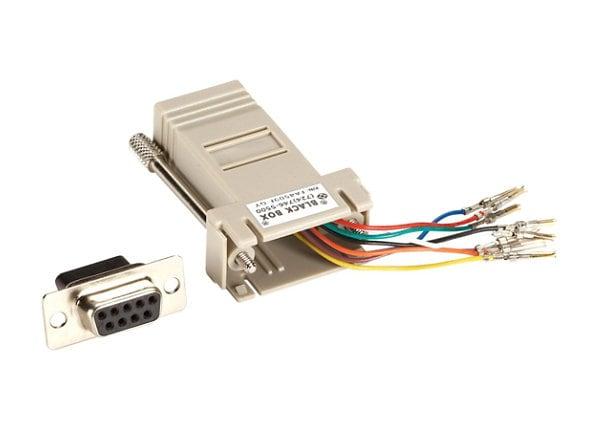 Black Box Colored Modular Adapter serial RS-232 adapter - gray