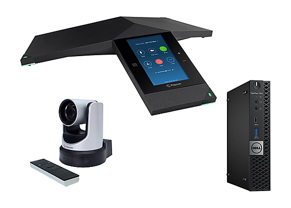 "Polycom Trio 8800 5"" Color LCD Zoom Room Video Conferencing Kit"