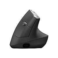 Logitech MX Vertical - mouse - USB, Bluetooth, 2.4 GHz - graphite