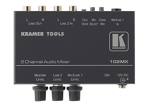 Kramer TOOLS 102MX analog mixer - 2-channel