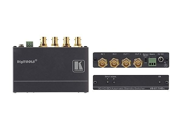 Kramer DigiTOOLS VS-211HDXL 2x1:2 3G HD-SDI Automatic Standby Switcher - vi