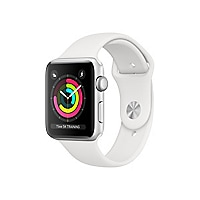 Apple Watch Series 3 38mm Smart Watch GPS - Silver Aluminum/White