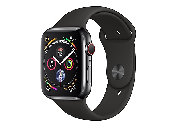 Apple Watch Series 4 (GPS + Cellular) - space black stainless steel - smart