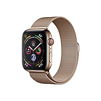 Apple Watch Series 4 (GPS + Cellular) - gold stainless steel - smart watch