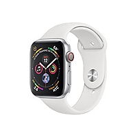 Apple Watch Series 4 (GPS + Cellular) - silver aluminum - smart watch with
