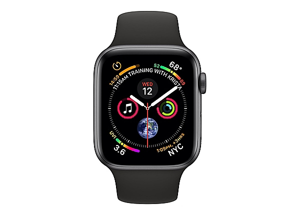Apple Watch Series 4 (GPS) - space gray aluminum - smart watch with sport b