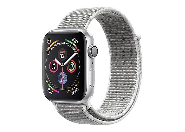 Apple Watch Series 4 (GPS) - silver aluminum - smart watch with sport loop