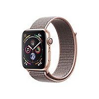 Apple Watch Series 4 (GPS) - gold aluminum - smart watch with sport loop -