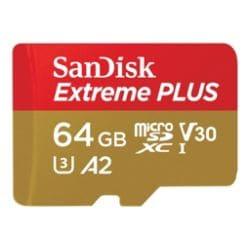 SanDisk Extreme - flash memory card - 64 GB - microSDXC UHS-I