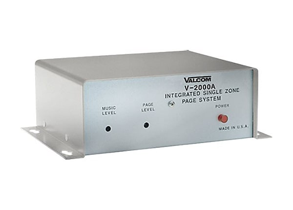Valcom V-2000A One-Way Page Control Unit with Built-In Power