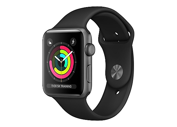 Apple Watch Series 3 (GPS) - space gray aluminum - smart watch with sport b
