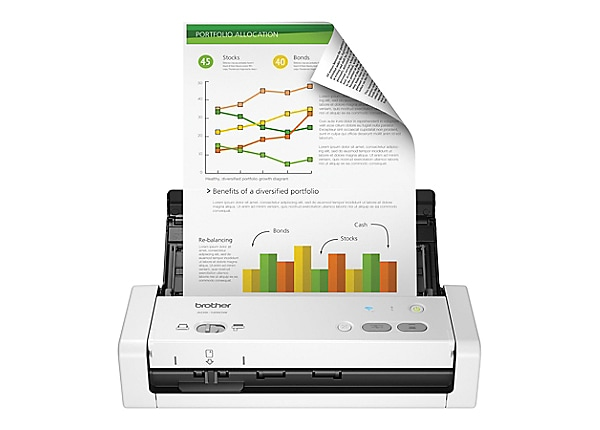 Brother ADS-1250W Wireless Compact Color Desktop Scanner with Duplex