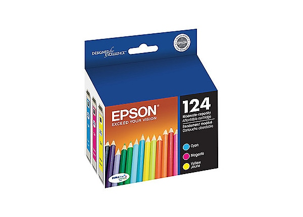Epson 124 Multi-Pack - Moderate Capacity - color (cyan, magenta, yellow) -