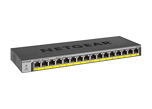 NETGEAR GS116PP - switch - 16 ports - unmanaged - rack-mountable