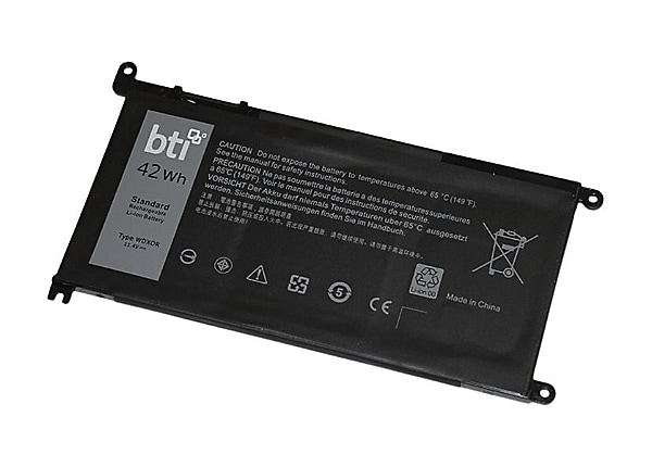 BTI WDX0R-BTI - notebook battery - Li-pol - 3684 mAh - 42 Wh