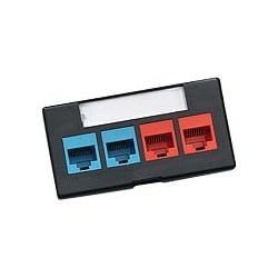 Leviton QuickPort Modular Furniture Faceplate with ID Window - faceplate
