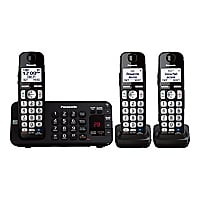 Panasonic KX-TGE243B - cordless phone - answering system with caller ID/cal