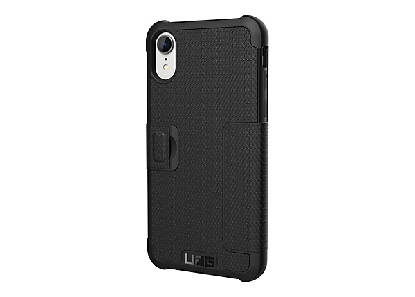 UAG Rugged Folio Case for iPhone XR [6.1-inch screen] - Metropolis Black -