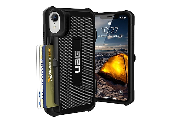 UAG Rugged Card Case for iPhone XR [6.1-inch screen] - Trooper Black - back