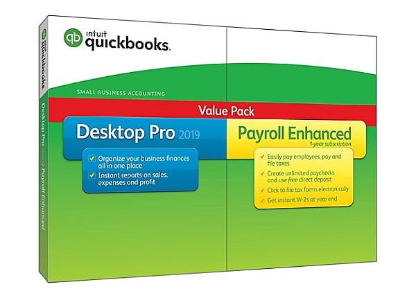 QuickBooks Desktop Pro 2019 with Enhanced Payroll - box pack - 1 user