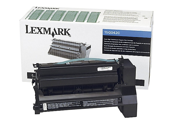 Lexmark Return Program 15G042C Hi-Yield Cyan Toner Cartridge
