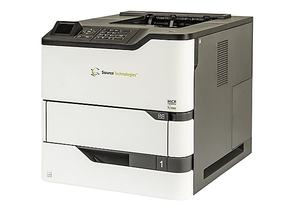 "Source Technologies Secure MICR ST9830 2.4"" LCD 1200X1200dpi Check Printer"