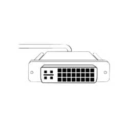 Humanscale DVI-D CABLE SET - RIGHT SIDE display / power cable kit