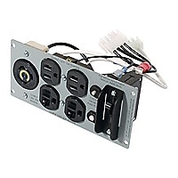 APC Backplate 120V with 2) 5-15R, (2) 5-20R and (1) L5-20R Outputs
