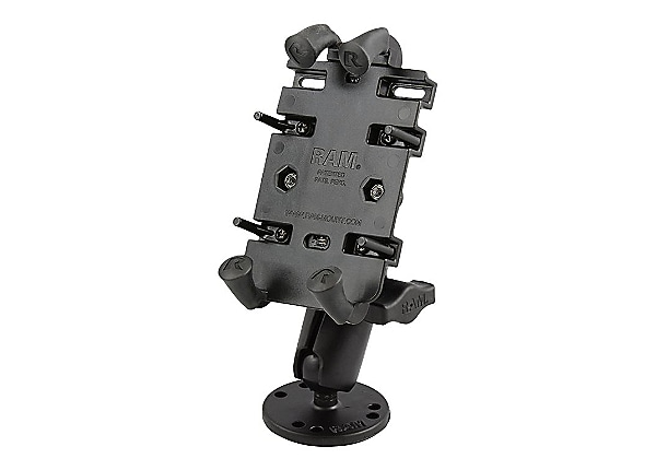 RAM Quick-Grip Spring Loaded Phone Mount with Drill-Down Base - holder