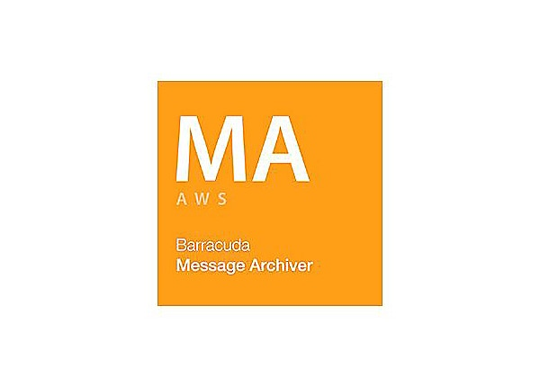 Barracuda Message Archiver for Amazon Web Service Account Level 150 - subscription license (1 year) - 1 license