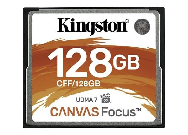 Kingston Canvas Focus - flash memory card - 128 GB - CompactFlash