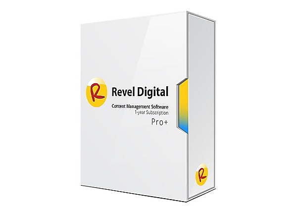 Revel Digital CMS Pro+ - Subscription Plan License Key (1 year) - 1 device