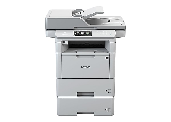 Brother TAA Compliant Monochrome Laser All-in-One Printer with Dual Trays