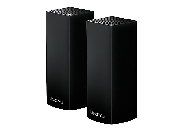 Linksys Velop Intelligent Mesh WiFi System, Tri-Band, 2-Pack Black (AC4400)